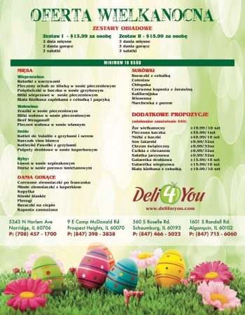 Deli 4 You Easter 2020